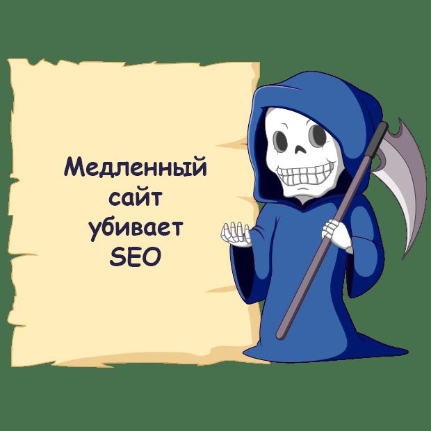 Медленный сайт убивает SEO